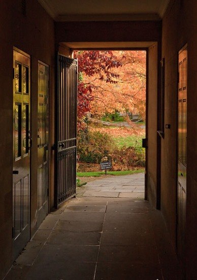 Autumn colours through the doorway